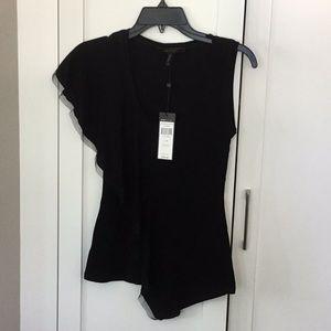 NWT BCBG black sleeveless top
